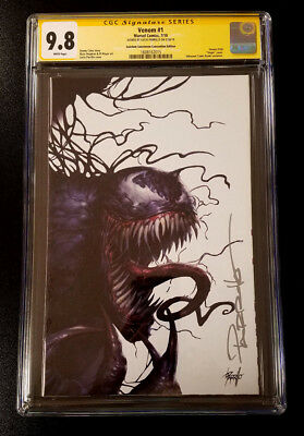 9.8 CGC SS Venom #1 Con Virgin Variant Signed Parrillo Signature Series 2018