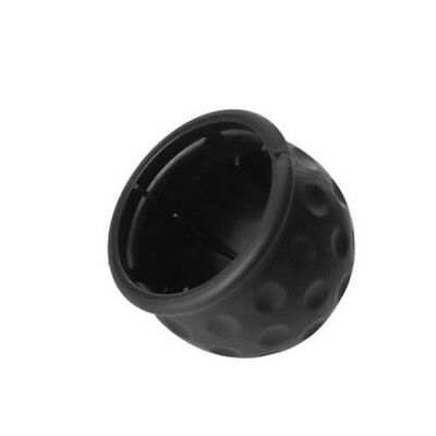 1pcs 50mm Trailer Black Rubber Towball Protect Tow Bar Ball Case Car Hitch Cover