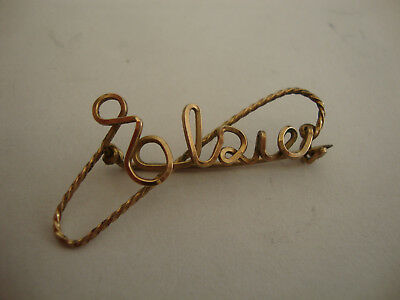 Old vintage antique hand made name Elsie sweetheart brooch trench art ww1 ww2