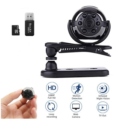MINI Spy Hidden Camera 1080P Pocket Security with Night Vision &Motion Detection