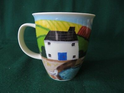 DUNOON SEA VIEW  nevis shape mug STONEWARE MADE IN SCOTLAND by SOPHIE HARDING