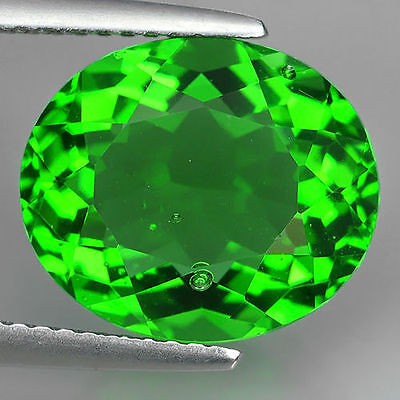 6.86 Ct Great Luster Natural Chrome Green  Moldavite Oval Cut Loose Gemstones