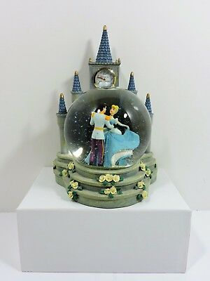 Disney Retired Cinderella Believe in Your Dreams Clock Tower Snowglobe