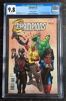 Champions #1 Mike Hawthorne 1:1000 Variant Deadpool Retailer Incentive CGC 9.8