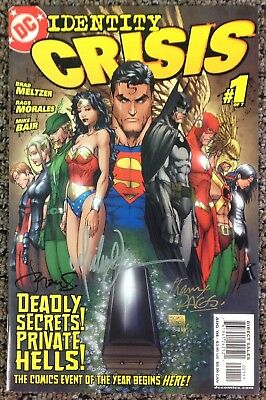 Identity Crisis #1-7.Complete Set Signed by Michael Turner + Others