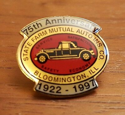 1922-1997 State Farm Mutual Auto Insurance 75th Anniversary Logo Lapel Pin