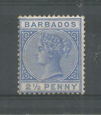 BARBADOS 1882 QUEEN VICTORIA 2.1/2d ULTRAMARINE SG,93 M/MINT LOT 8045A