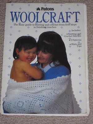 BOOK - PATONS WOOLCRAFT - GUIDE FOR KNITTING & CROCHET hints & tips
