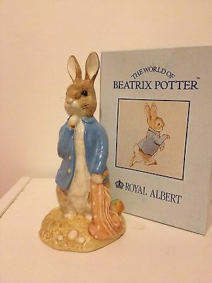 Royal Albert Beatrix Potter Large Peter With Red Picket Handkerchief Pottery, Porcelain & Glass Pottery