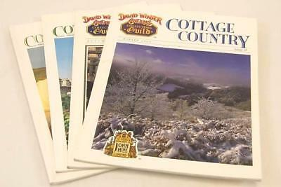 1989 Lot of 4 Winter David Winter Cottages Collectors Guild Magazines