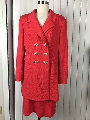 Marie Gray ST JOHN COLLECTION Santana Knit Jacket Coat Skirt Suit Large/12