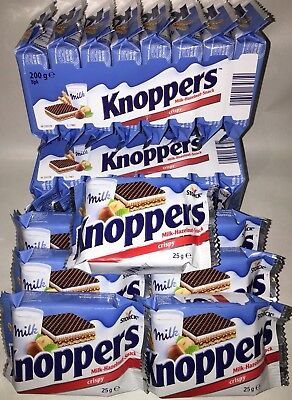 4x KNOPPERS Crispy Chocolate Wafers With Milk Hazelnut Snack By Germany 4 x 8pk