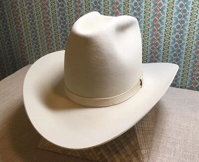 9354031e993 Vintage Resistol Self Conforming 5X Beaver Western Cowboy Hat Size 7  Eggshell