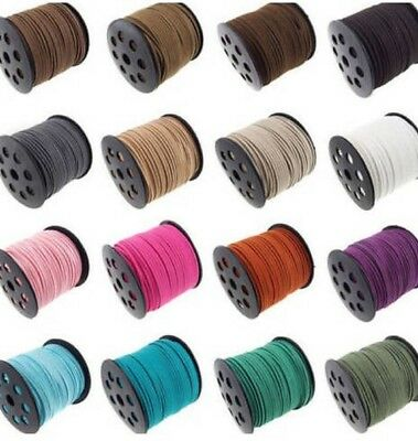 5m 3mm Faux Suede Cord Lace Thread String Leather Jewellery Beading(R007-3.0mm)