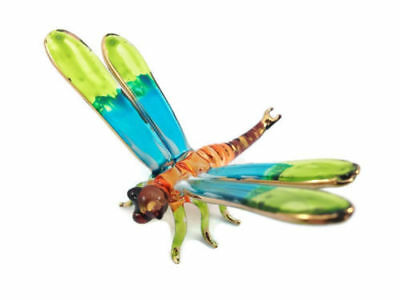 Miniature Dragonfly Hand Blown Glass Art Dragonfly Figurine Animal Souvenir Gift