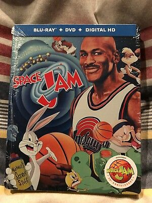 Space Jam (Blu-ray/DVD, 2016, 2-Disc Set, 20th Anniversary Edition SteelBook)