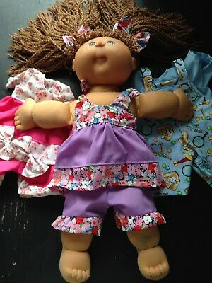 Homemade Cabbage Patch Top And. Bottom Set - 3 Pattern Choices