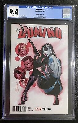 Domino 1 J Scott Campbell 1 In 50 Variant Cgc 9.4 2018 Not Pgx Cbcs