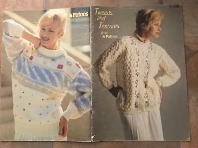 Patons Knitting Book 771 Tweeds And Textures Winter Knit Designs