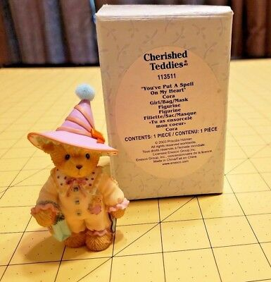 2003 Cherished Teddies 113511 Cora You've Put a Spell on My Heart Halloween