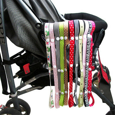 Baby Stroller Secure Toys Rope No Drop Bottle Cup Holder Strap Chair Car Seat E&