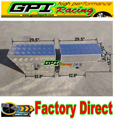 "30""x10""x 16"" Pair Aluminium Undertray Under Tray Underbody Ute Tool Box"