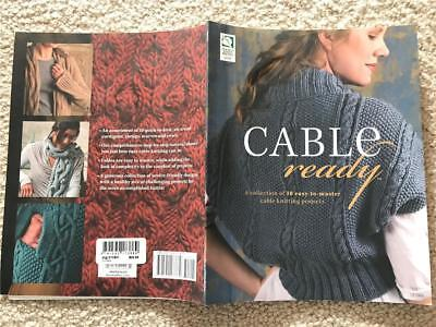 CABLE ready KNITTING BOOK 121064, 10 easy-to-master cable knitting projects