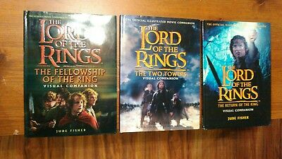 Complete Set Of Lord Of The Rings Visual Companion Books excellent condition
