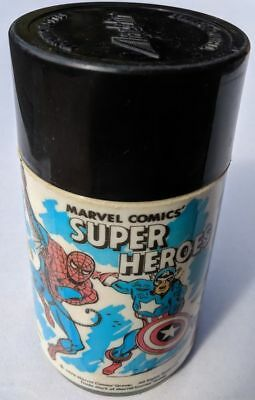 MARVEL COMICS SUPER HEROES 1976 ALADDIN Thermo Bottle FLASK