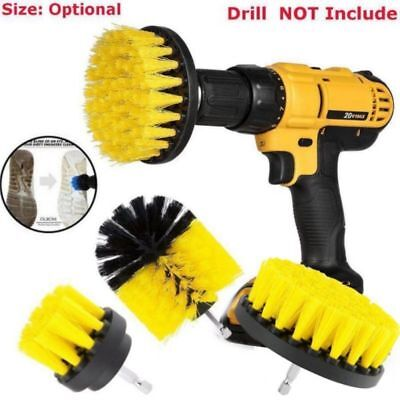 Yellow 3Pcs/Set Tile Grout Power Scrubber Cleaning Drill Brush Tub Cleaner Combo