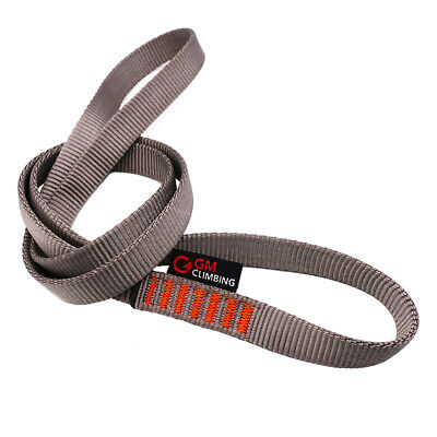 Grey 16mmx60cm Nylon Climbing Runner Sling for Rappelling Quickdraw Climbing