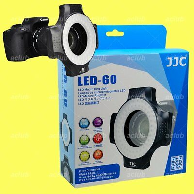 JJC 60 LED Macro Ring Flash Light for Sony Fujifilm Canon Nikon Olympus Pentax