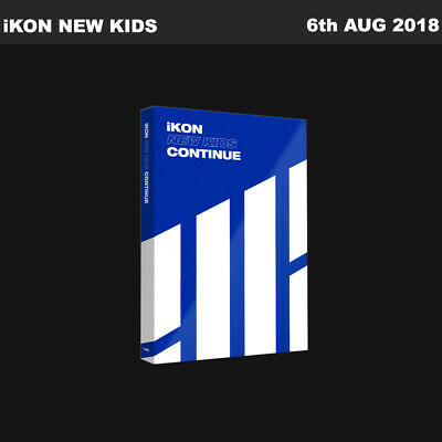 iKON New Kids Continue Album Blue Ver CD+Poster+Booklet+PhotoCard KPOP Sealed