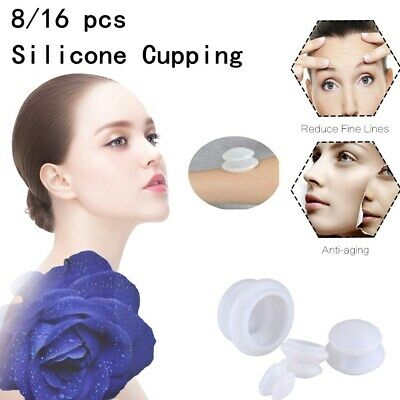 8/16Pcs Silicone Massage Therapy Cup Sets Vacuum Cupping for Face Body Massage