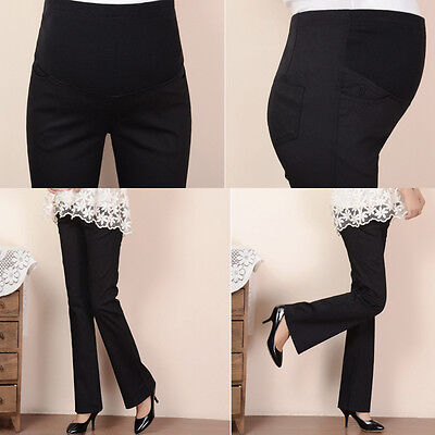 Maternity Pregnancy Cotton Trousers Elastic Pants Over Bump size 10 12 14 16 18