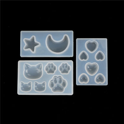 Resin Jewelry Mold Diy silicone crystal Cat face Cat's claw Moon Stars heart New