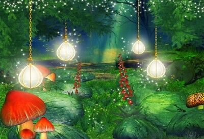 Fairy Forest Jungle Backdrop Wedding Decoration Photo Background 10x6.5ft