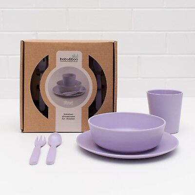 *BNIB* Bobo And Boo Kids Bamboo Dinner Set - lilac