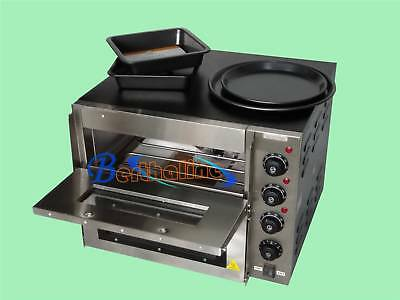 "New 16"" 3000W 110V Double deck Electric Pizza Oven Commercial Ceramic Stone"