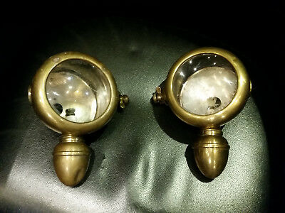 "Pair Of Headlights ""phares Besnard"" Number 1753"