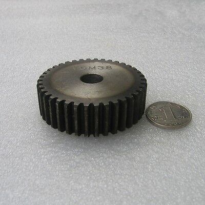 2Mod 49Tooth Motor Gear 45# Steel 2M49T Spur Gear Thickness 20mm x 1Pcs