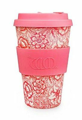 Ecoffee Cup William Morris Poppy with Pink Silicone Coffee Cup 400ml