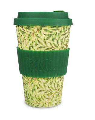 Ecoffee Cup William Morris Willow with Green Silicone Coffee Cup 400ml
