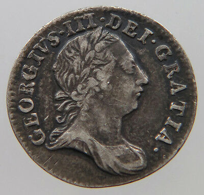 GREAT RITAIN 3 PENCE 1763 MAUNDY    #t40 349
