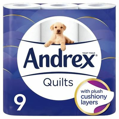 Andrex Quilts Cushioned Softness Toilet Tissue 9 per pack (PACK OF 2)