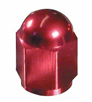 Bike It Motorcycle Tyre Pair Hexagon Red Anodised Valve Caps BC6303 - T