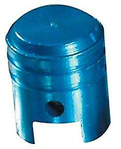Bike It Motorcycle Tyre Pair Round Blue Anodised Large Valve Caps BC6307 - T