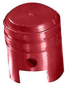 Bike It Motorcycle Tyre Pair Round Red Anodised Large Valve Caps BC6312 - T