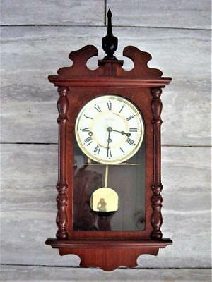 WESTMINSTER CHIMING WALL CLOCK - working