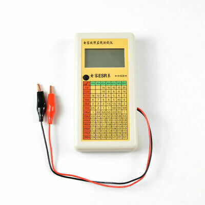 New Digital LCD ESR Capacitance Ohm Meter In Circuit Tester